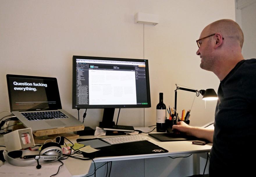 Rasmus Skoljdan at work